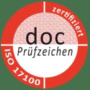 Prüfzeichen ISO 17100