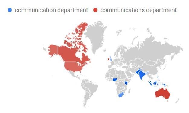 comm oder comms department Karte