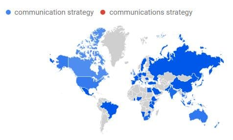 comm oder comms strategy Karte