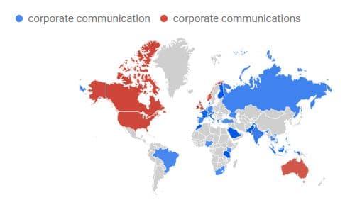 corporate comm vs comms Karte